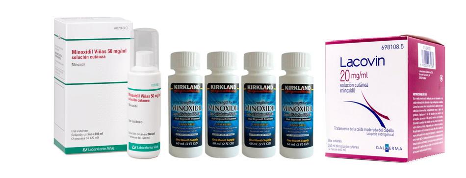 Marcas comerciales minoxidil